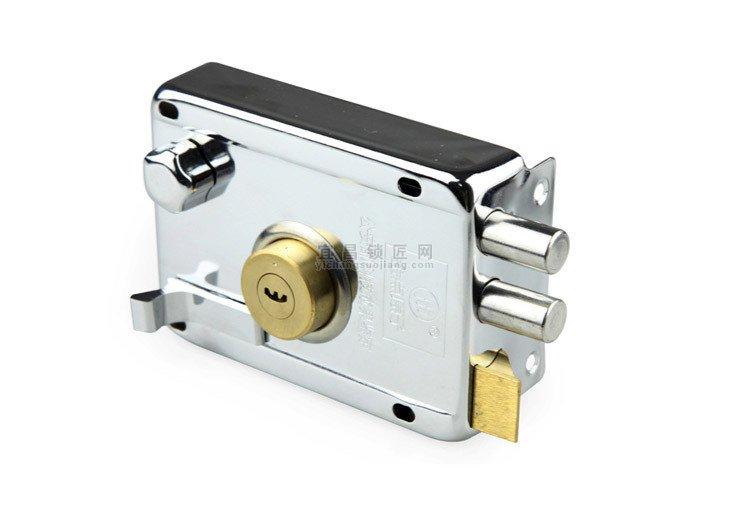 宜昌金点原子超b级月牙锁芯防盗门外装门锁